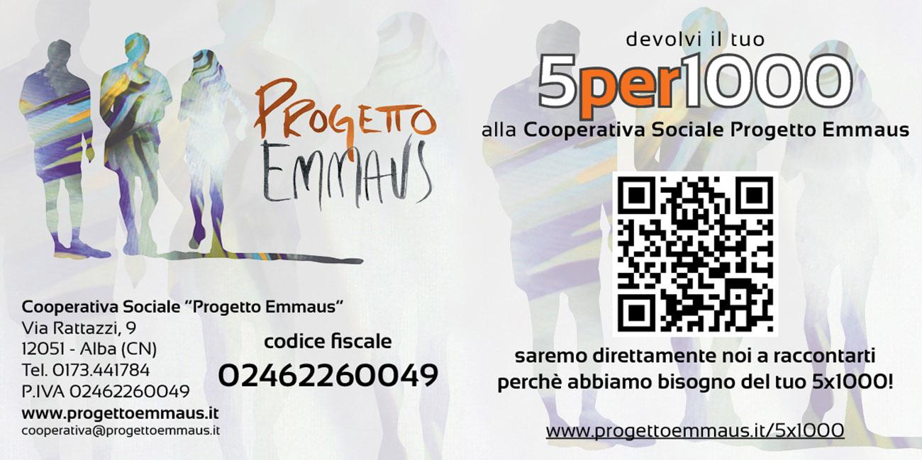 5x1000 Cooperativa Sociale Progetto Emmaus